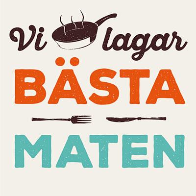 Vi lagar bästa maten Logo Small Animation Informationsgrafik Produktionsbolag Stockholm
