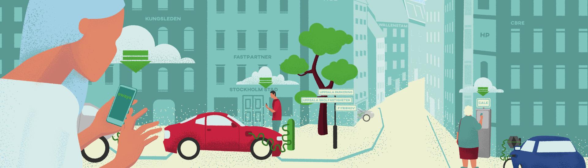 Elbilstorget Animation Informationsgrafik Produktionsbolag Stockholm