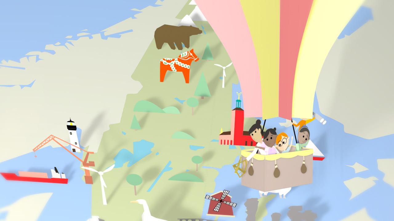 Yttersta Barnen Balloon Animation Informationsgrafik Produktionsbolag Stockholm